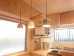 台所リフォーム完成 杉板を使ったナチュラルスタイル